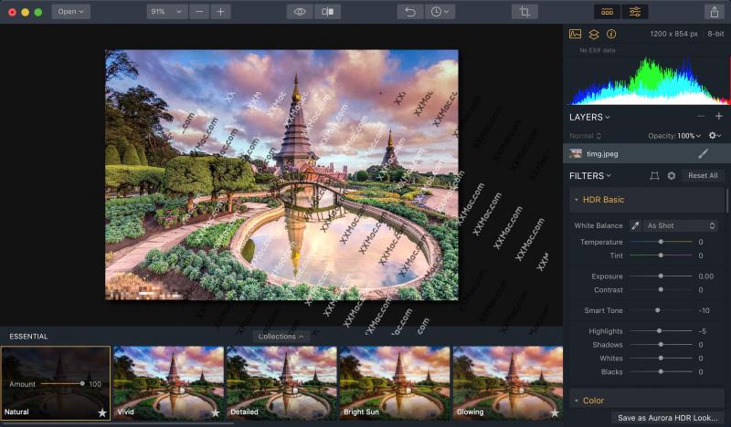 Aurora HDR 2019 v1.0.0(5825) for Mac中文破解版 HDR图像后期处理软件