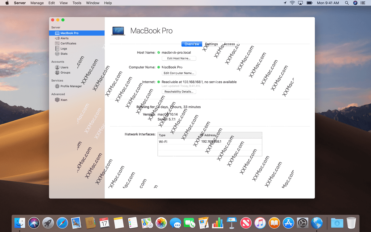 macOS Server for Mac v5.9 中文破解版 可将Mac电脑变成一台服务器