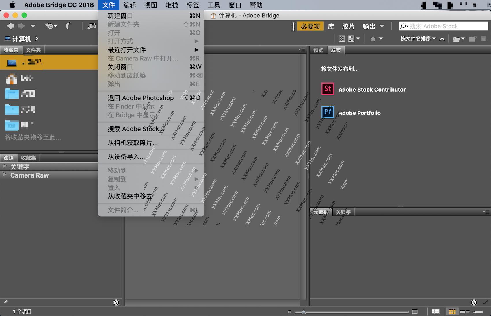 Adobe Bridge CC 2018 v8.1.0.383 for Mac中文破解版 资源管理工具