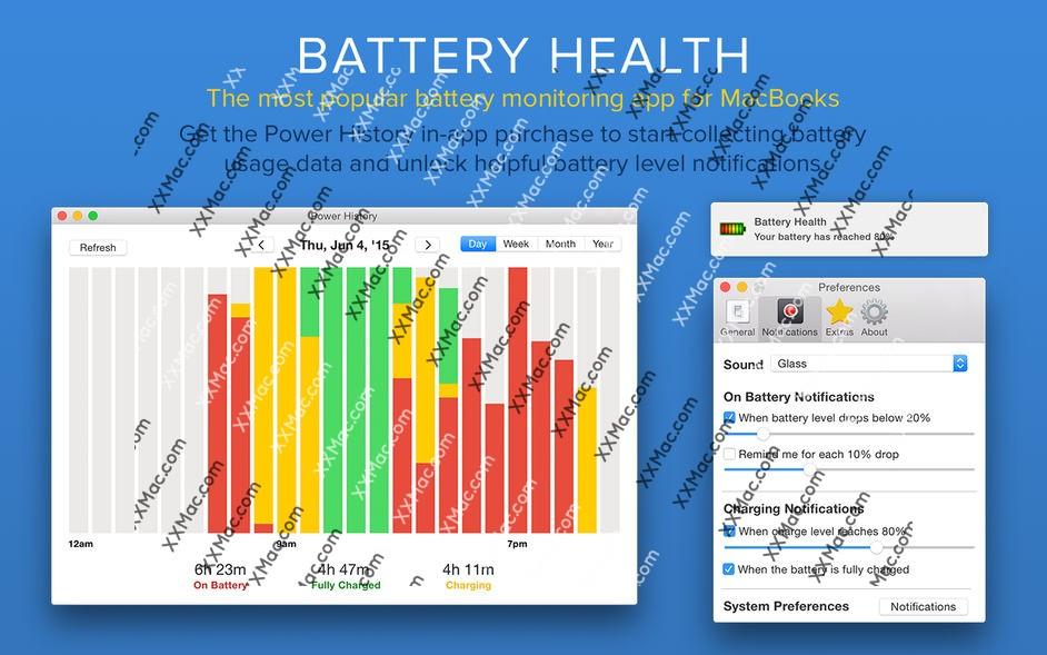 Battery Health 3 Mac v1.0.18 英文破解版下载 电池监控和管理工具