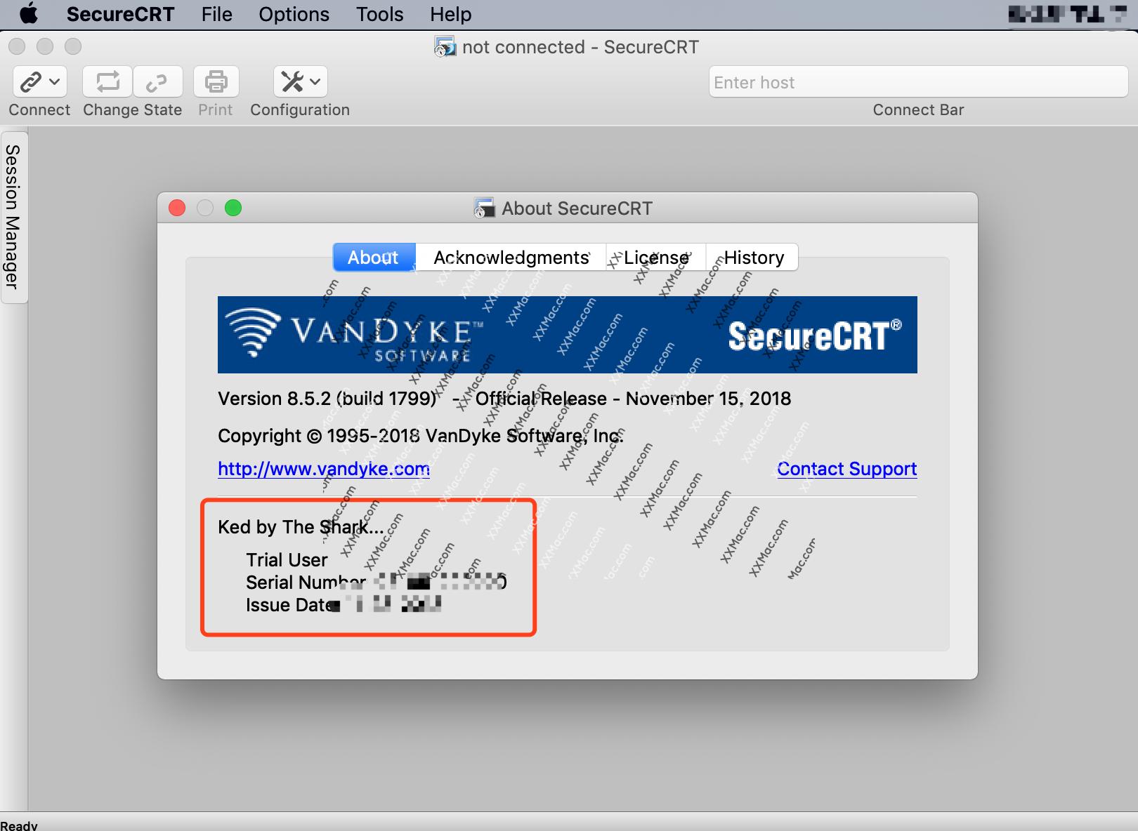 SecureCRT v8.5.2 for Mac英文破解版 SSH终端工具