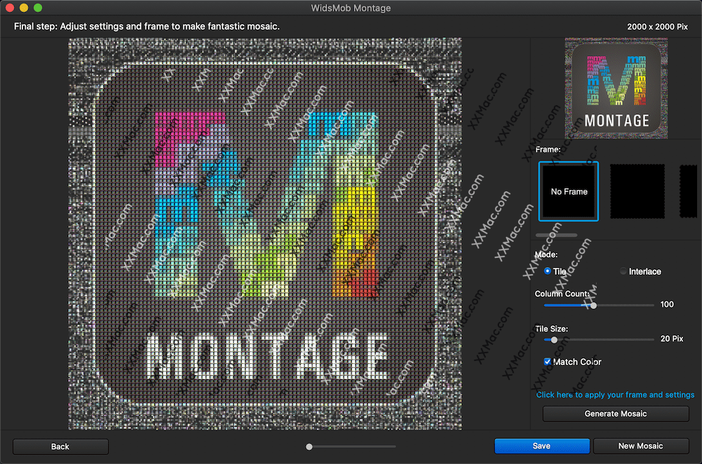WidsMob Montage v1.11 for Mac中文破解版 马赛克图片制作软件