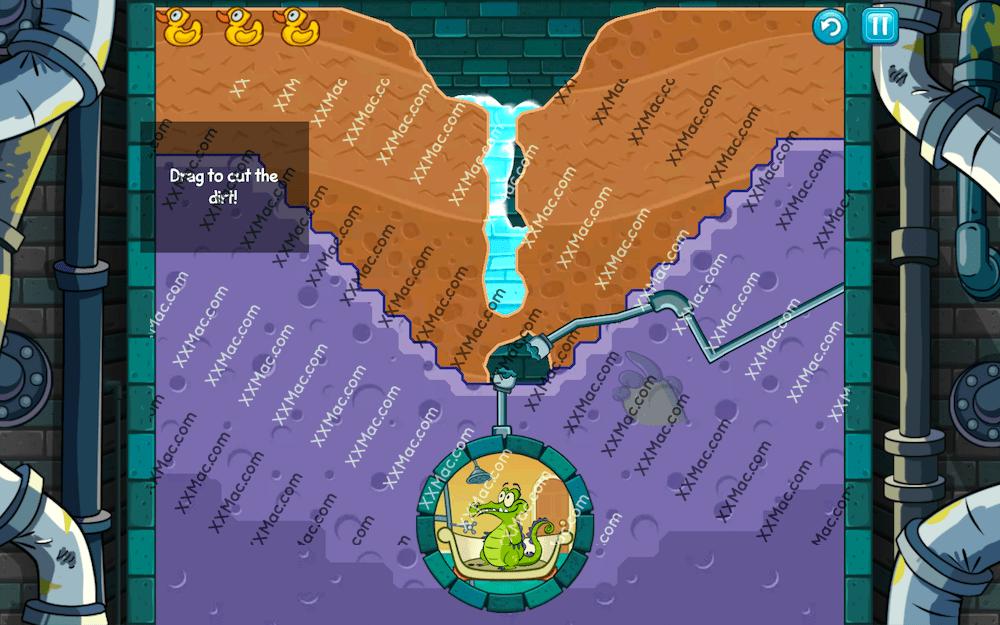 鳄鱼小顽皮爱洗澡 Swampy for Mac英文版 休闲游戏