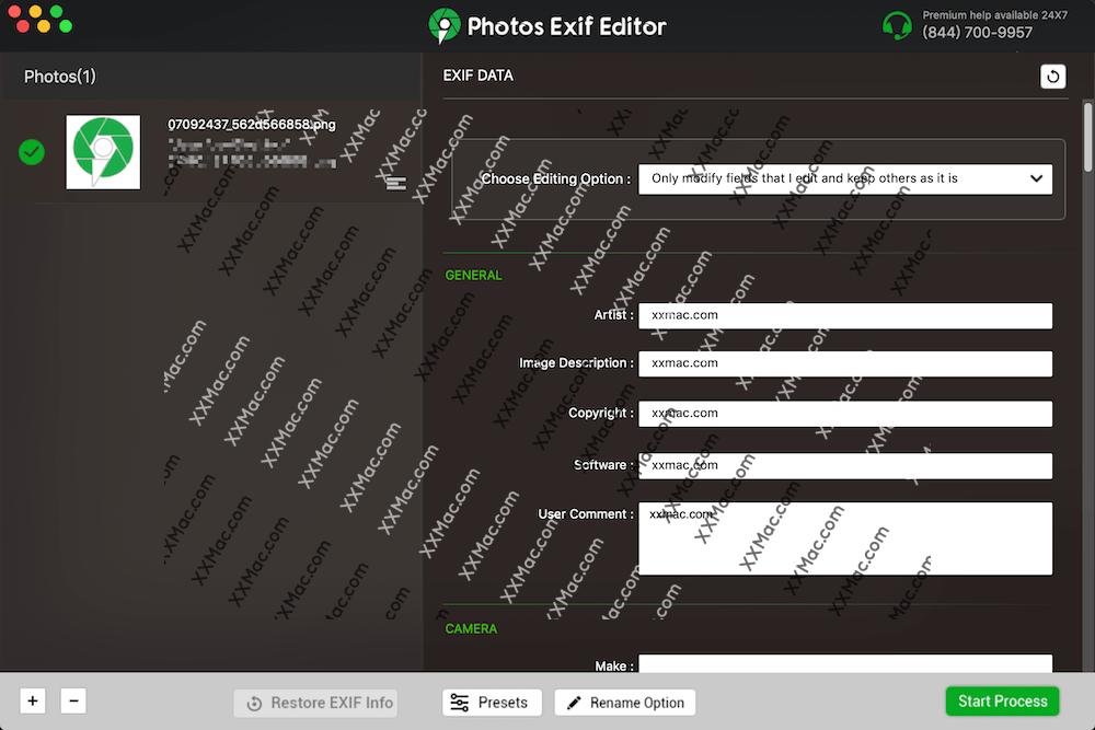 Photos Exif Editor v2.3 for Mac英文破解版 图片Exif编辑器