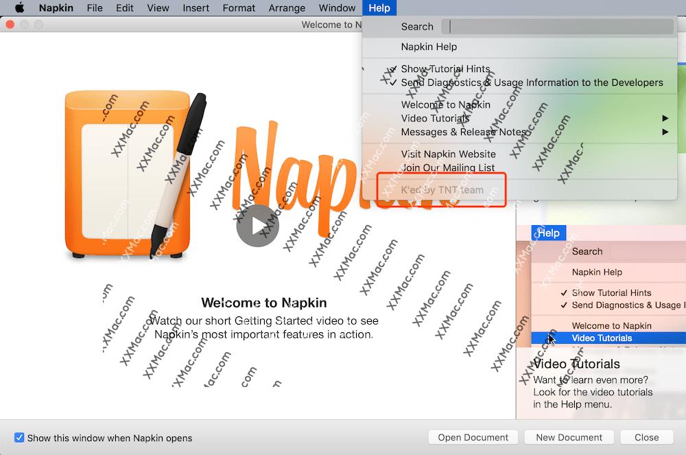 Napkin v1.5.2 for Mac英文破解版 图像注释和标记软件