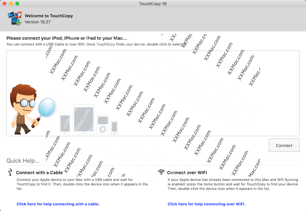 TouchCopy16 for Mac v16.29 英文破解版下载 iOS设备管理数据传输软件