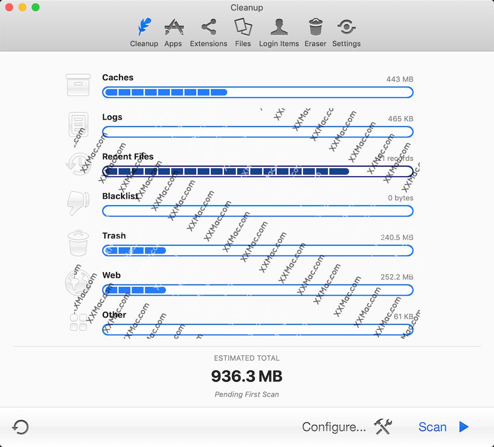 MacCleanse for Mac v8.0.1 英文破解版 系统垃圾清理软件