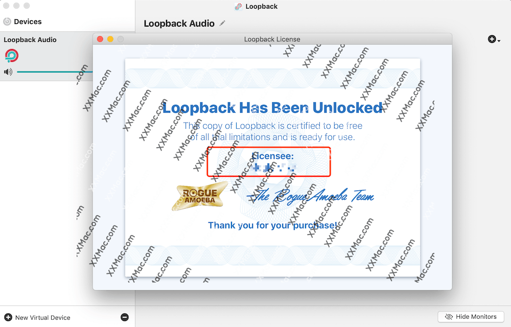 Loopback for Mac v2.0.0 英文破解版 虚拟音频软件