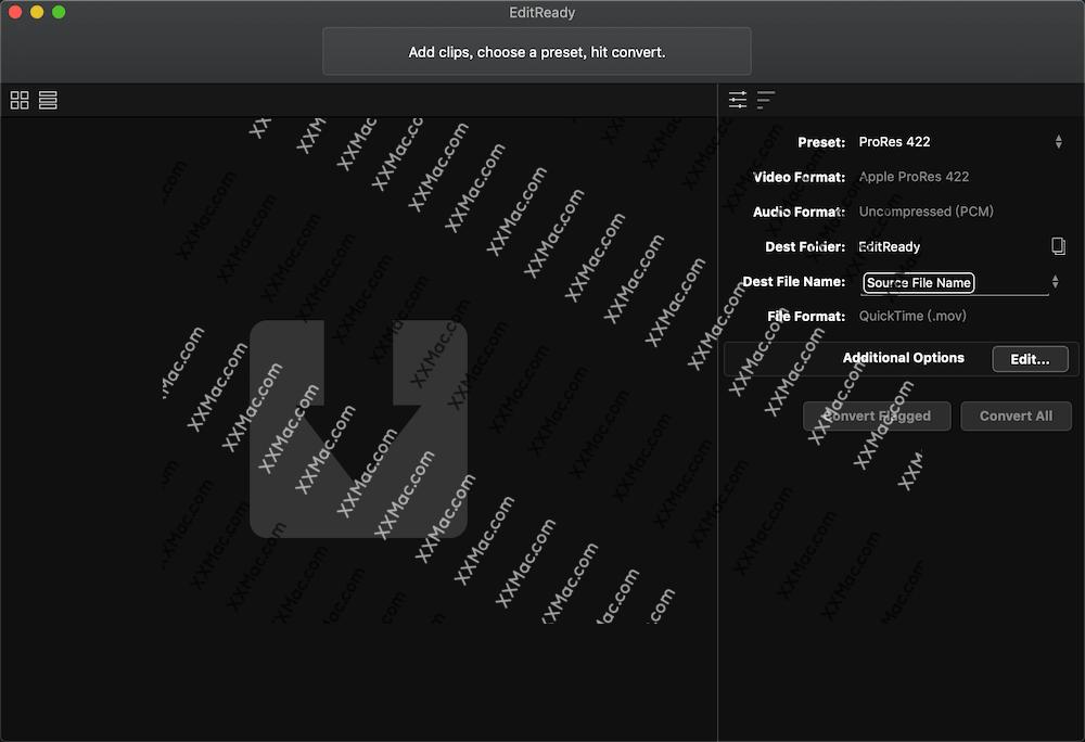 EditReady 2 for Mac v2.5.2 英文破解版 视频转码工具