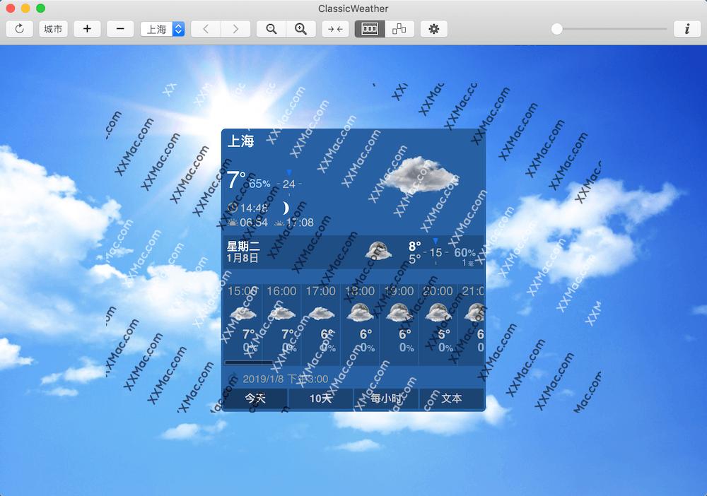 ClassicWeather for Mac v4.0 中文破解版 天气预报软件