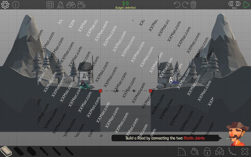 桥梁构造者 Poly Bridge for Mac v1.0.5 英文破解版下载 模拟游戏