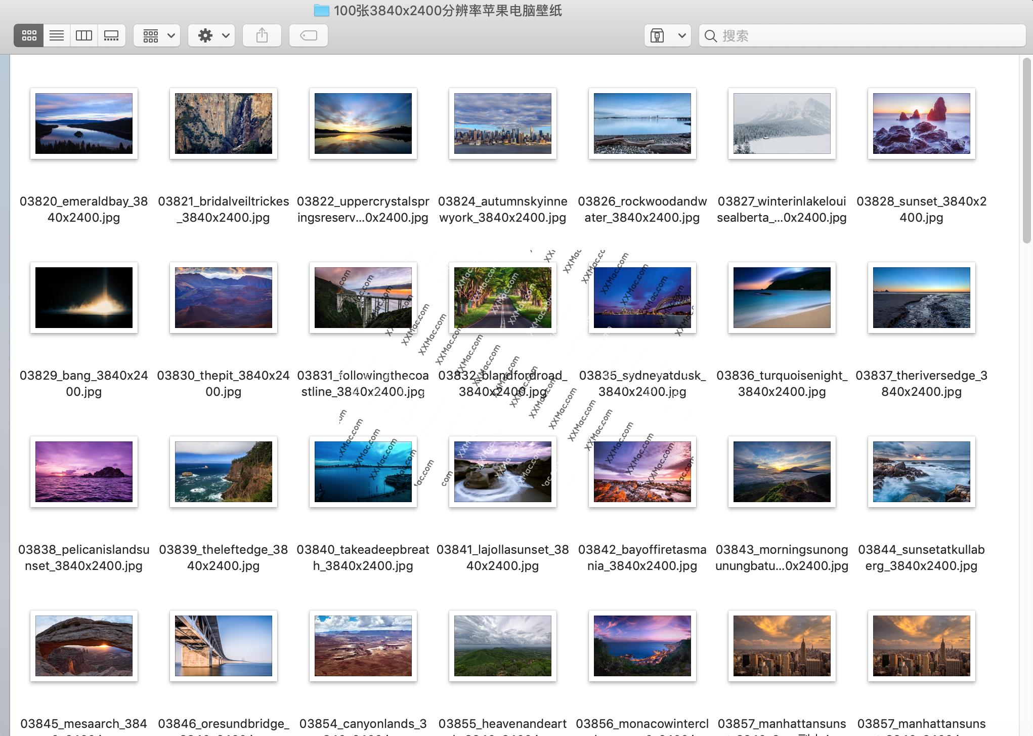 100张 3840x2400分辨率苹果电脑壁纸下载
