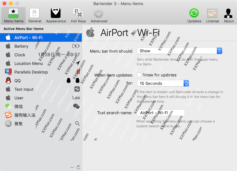Bartender 3 for Mac v3.0.51B 英文破解版下载 菜单栏图标管理软件