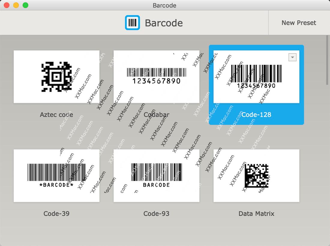 Barcode for Mac v1.10 英文破解版下载 条形码二维码生成软件