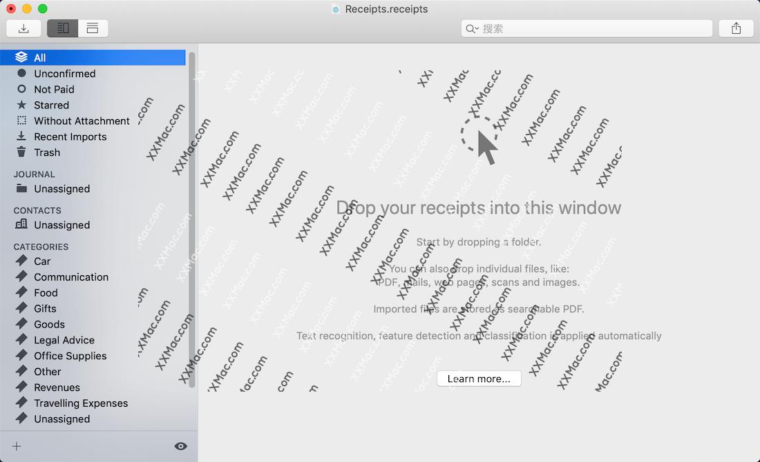 Receipts for Mac v1.9.4 英文破解版下载最 发票管理软件