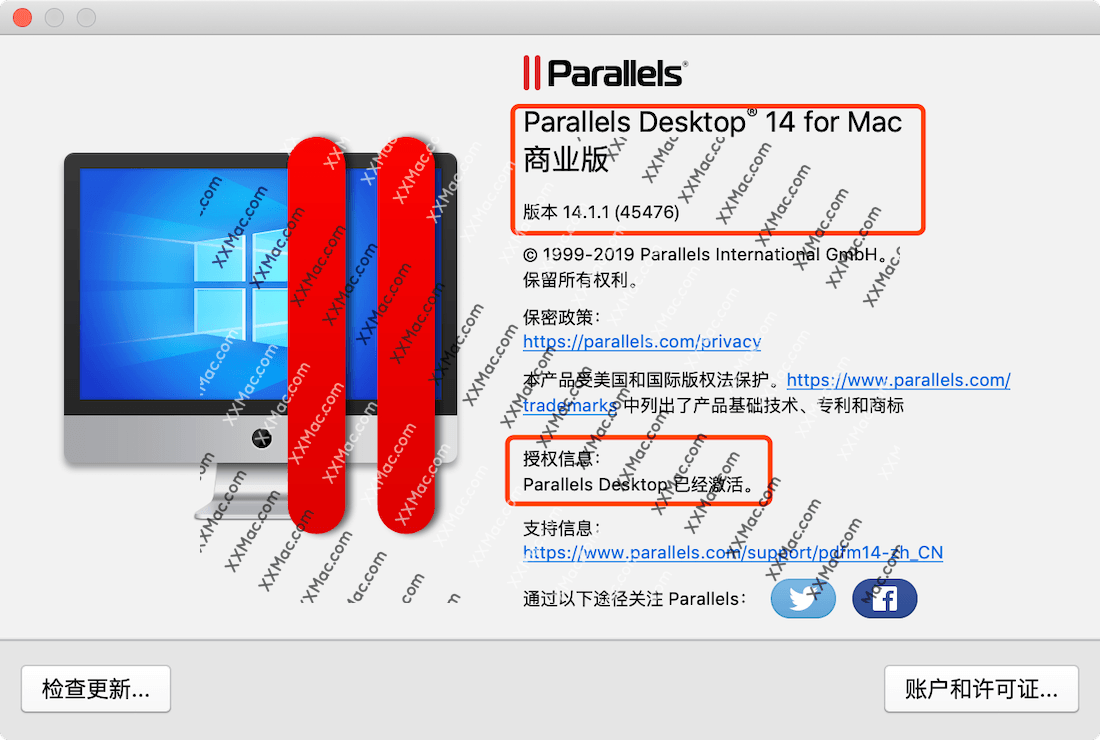 Parallels Desktop 14 for Mac v14.1.1(45476) 中文破解版下载 Mac虚拟机软件
