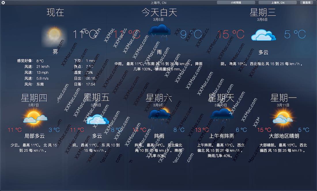 Weather Dock for Mac v4.5.0 中文破解版 下载 天气预报软件