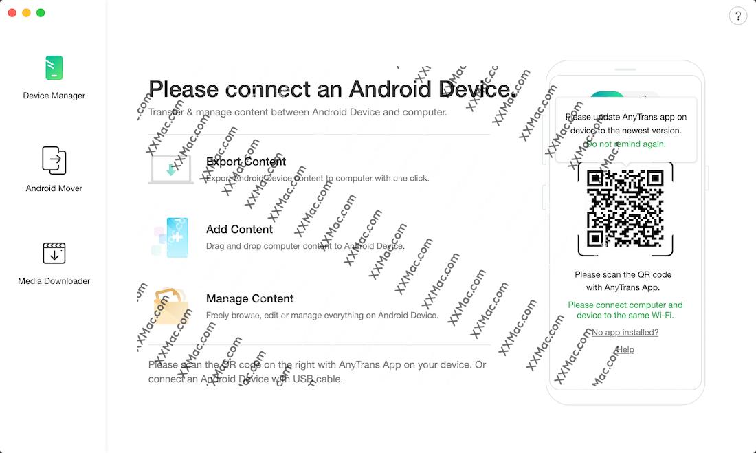 AnyTrans for Android for Mac v7.3.0 英文破解版下载 安卓手机数据传输工具