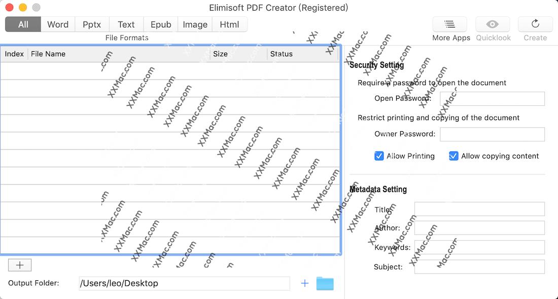 Elimisoft PDF Creator for Mac v1.0.0 英文破解版下载 PDF创建软件