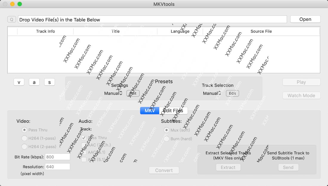 MKVtools for Mac v3.7.1 英文破解版下载 视频格式转换软件
