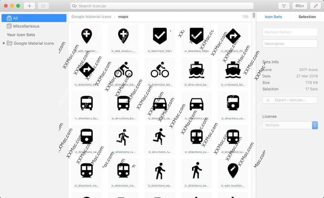IconJar for Mac v2.4.1 英文破解版下载 图标素材设计工具
