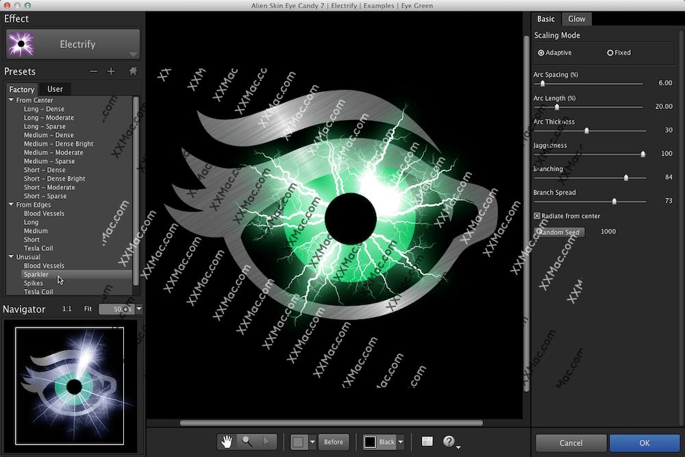 Alien Skin Eye Candy 7 for Mac v7.2.3.37 英文破解版下载 PS眼睛糖果滤镜