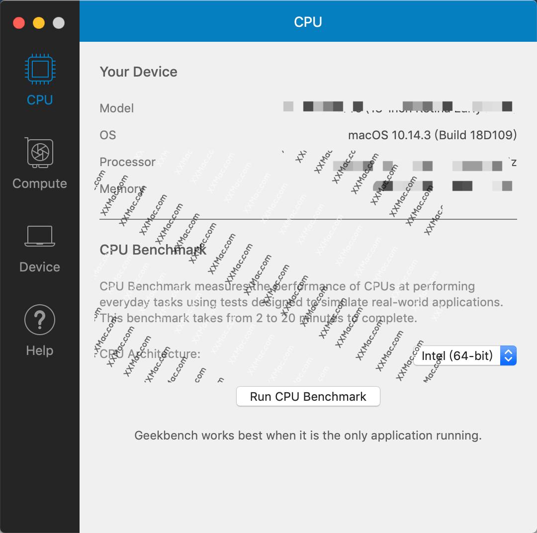 Geekbench 4 for Mac v4.3.1 英文破解版下载 检测系统性能工具