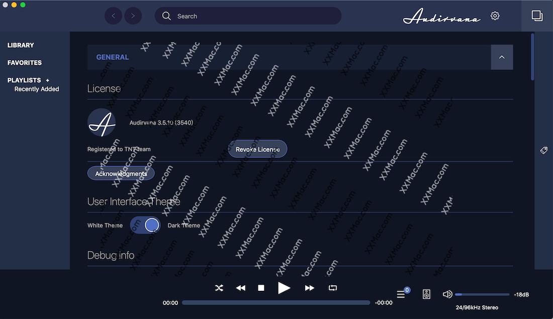 Audirvana for Mac v3.5.11 英文破解版下载 无损音乐播放器