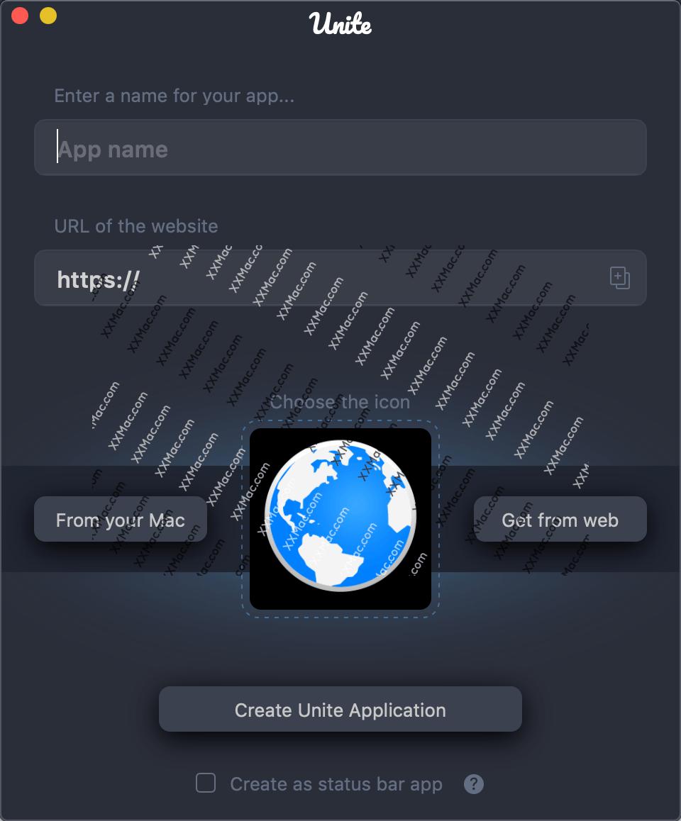 Unite for Mac v2.1 英文破解版下载 将网站转化为应用软件