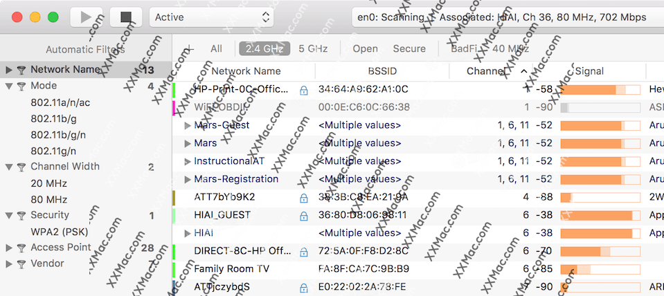 WiFi Explorer Pro Mac v3.1 英文破解版下载 WiFi管理软件
