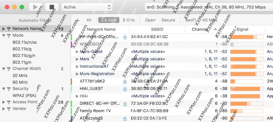 WiFi Explorer Pro Mac v2 2 1 英文破解版下载WiFi管理软件– XXMac