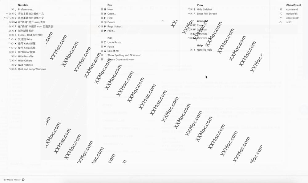 CheatSheet Mac v1.3.3 中文破解版下载 快捷键快速查看工具