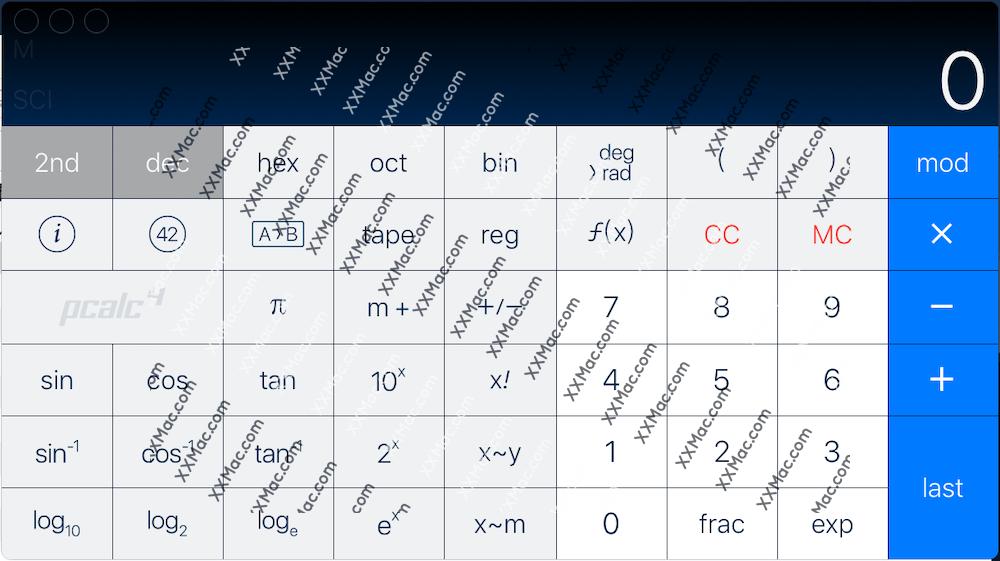 PCalc for Mac v4.9.2 英文破解版下载 科学计算器