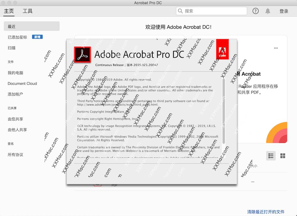 Adobe Acrobat Pro DC 2019 Mac v2019.021.20047 中文破解版下载 PDF编辑软件
