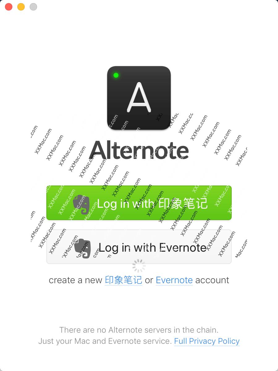 Alternote for Mac v1.0.18 英文破解版下载 印象笔记客户端