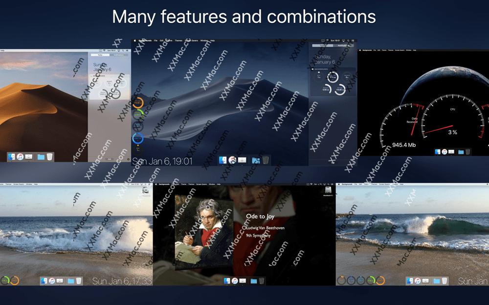 Backgrounds for Mac v7.7 英文破解版下载 动态壁纸软件