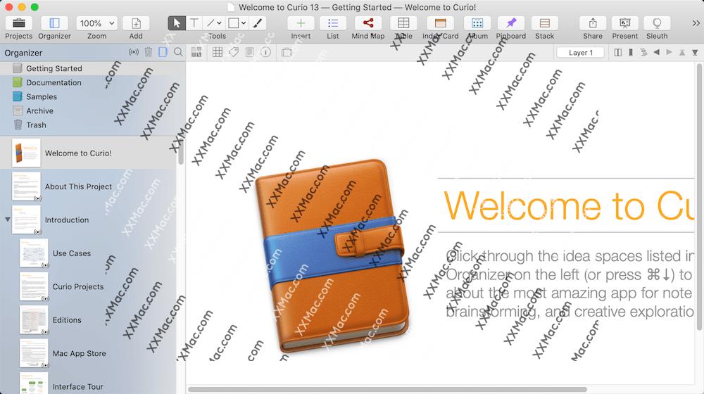 Curio for Mac v13.2 英文破解版下载 头脑风暴和项目管理软件