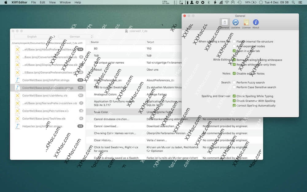 Xliff Editor for Mac v2.9.4 英文破解版下载 Xliff文件编辑器