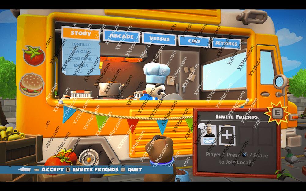 煮糊了2 Overcooked2 for Mac v1.0 英文破解版下载 厨房模拟烹饪游戏