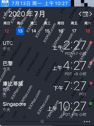 The Clock for Mac v4.3 中文汉化破解版下载 世界时间软件