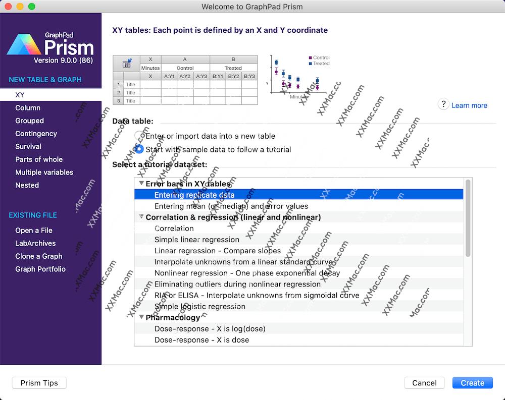 Graphpad Prism 9 for Mac v9.0.2 英文破解版下载 医学绘图软件