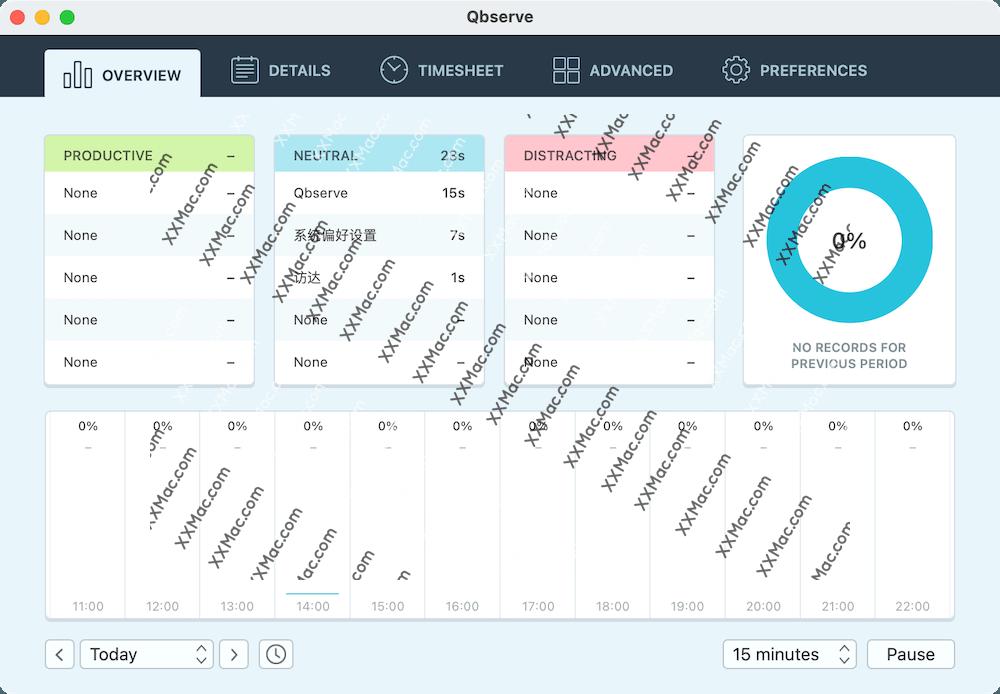 Qbserve for Mac v1.88 英文破解版下载 追踪你在 Mac 上的时间消耗工具