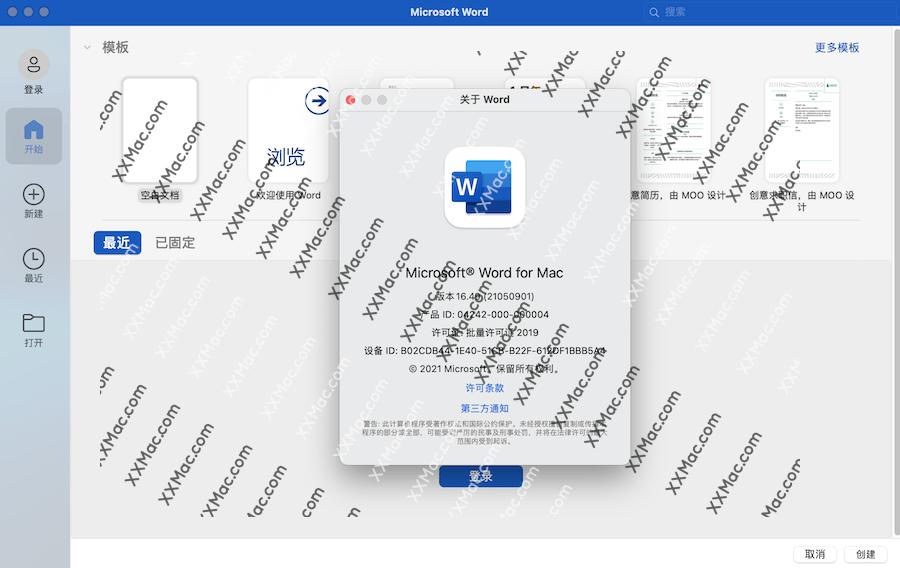 Microsoft Word 2019 for Mac v16.53 中文破解版下载 Word文档软件