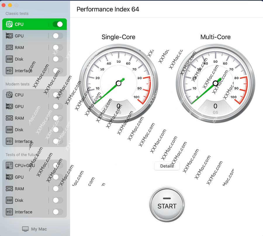 Performance Index 64 Pro Mac v4.1.0 英文破解版 系统性能测试软件